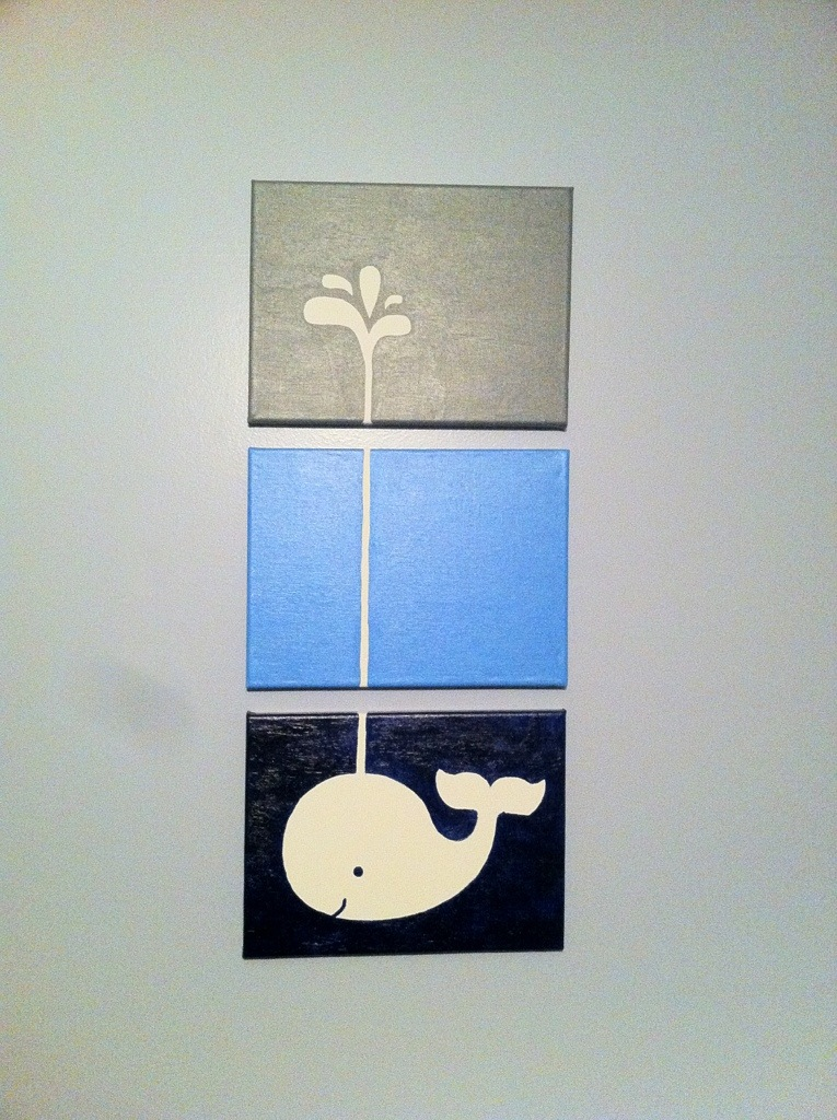 Whale Canvas Nursery Art Everything Is Homemade