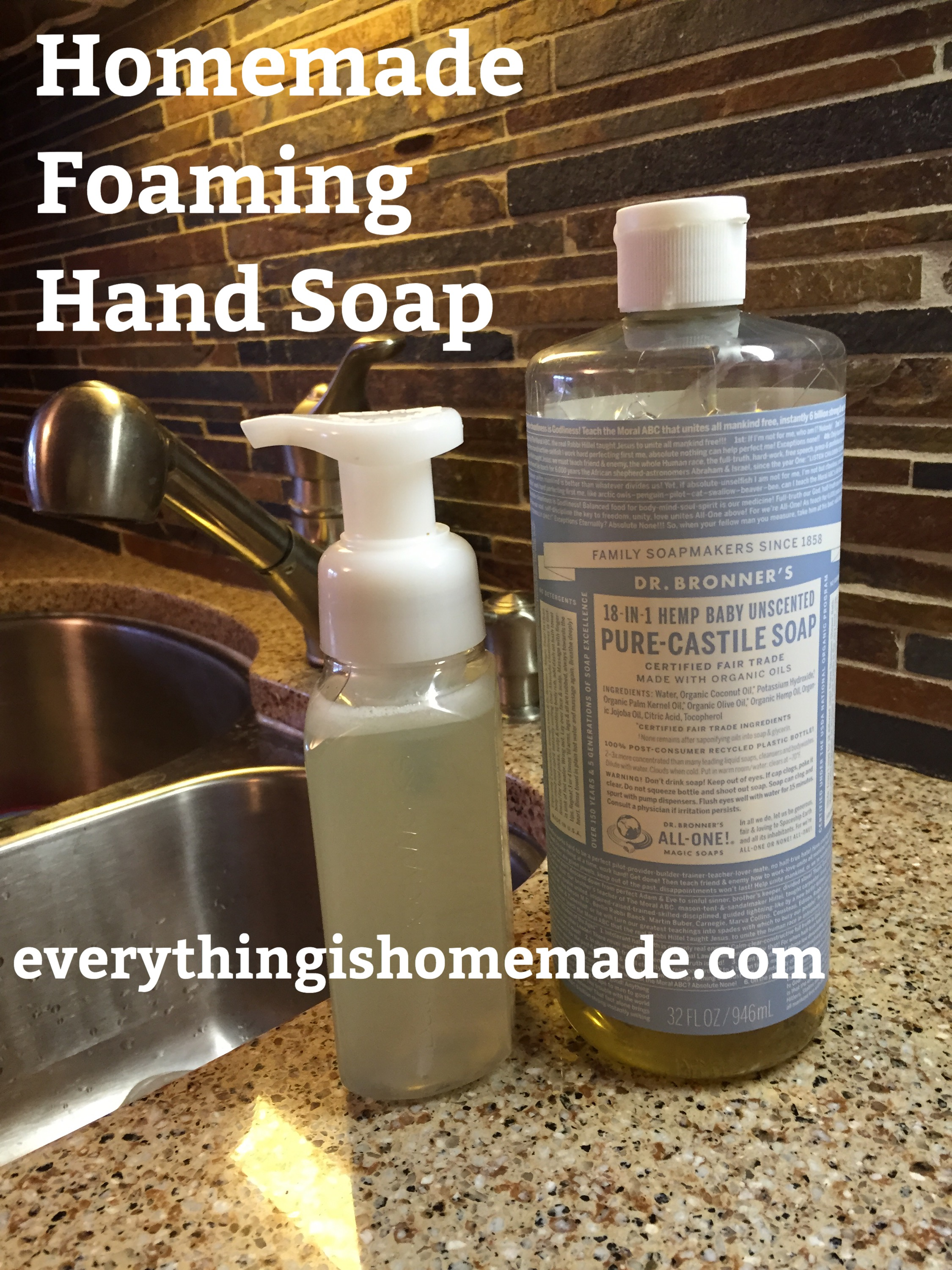 Homemade Foaming Hand Soap – Everything Is Homemade